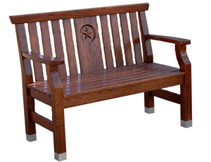 Tci Furniture Chairs Amp Seating Capital Bench With Star