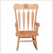 Wonderful Wood Rocking Chair With Texas Seal