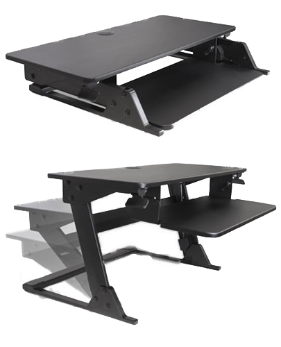 Volante Single or Dual Monitor Sit-Stand Work Station