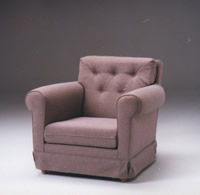 Overstuffed Rolled Arm Chair Sofa