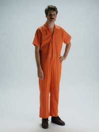 Man wearing Orange Coverall
