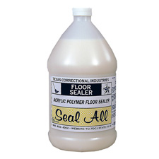 Seal All Floor Sealer, Water Emulsion. Color: Opaque white. Odor: mild ammonia.