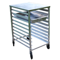 Aluminum Mobile Bun 12-Pan Rack