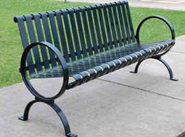 TCI - Metal - Park Equipment - Circle End Park Bench