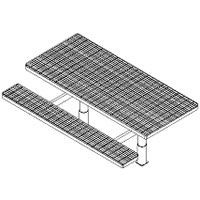 Picnic Table w/ Leg Assembly & Embed - ADA Accessible