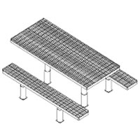 Picnic Table w/ Leg Assembly & Embed