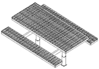 Picnic Table w/ Leg Assembly & Embed - Seat Attached