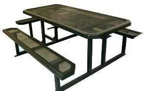 Tci Metal Park Equipment Picnic Table 6 Ft