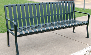 TCI - Metal - Park Equipment - Standard Park Bench