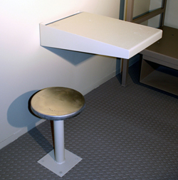 Ad Seg Cell Desk and Stool